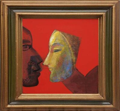 """Tapas Ghoshal, 'Face Series, Acrylic on Canvas by Contemporary Artist """"In Stock""""', 2014"""