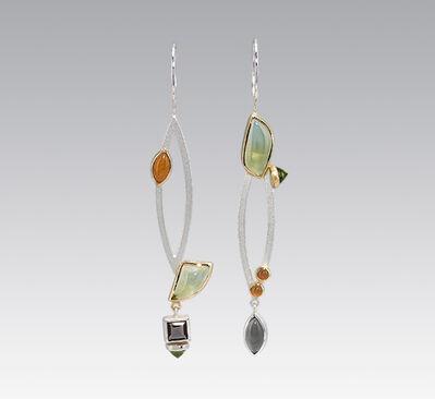 Janis Kerman, 'Asymmetrical Multi-stone Drop Earrings '