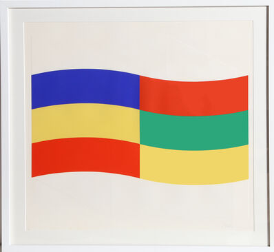 Charles Hinman, 'Blue, Green and Yellow Flag', ca. 1970