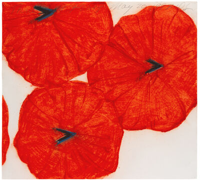 Donald Sultan, 'Three Red Flowers, May 20, 1997', 1997