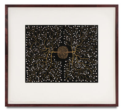 Fred Tomaselli, '562 Eyes in Self-surveillance', 1998
