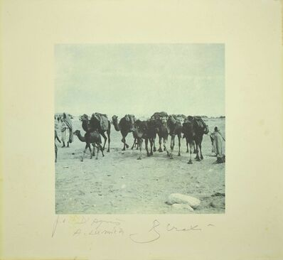 Bettino Craxi, 'Camels in the Tunisian Desert', 1995