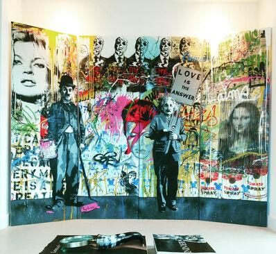 Mr. Brainwash, 'Juxtapose- 4 Panel', 2014