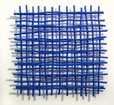 Shayne Dark, 'Gridlock Blue - A layered grid of intersecting bent aluminum in cobalt blue', 2020