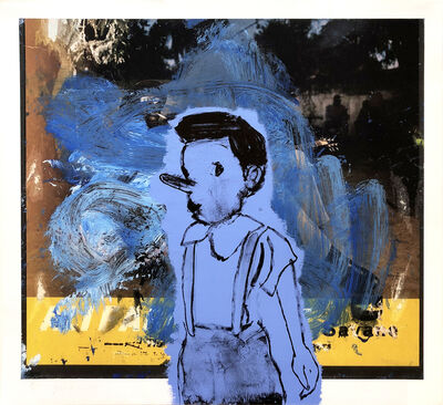 Jim Dine, 'Little Blue Pinocchio', 2011