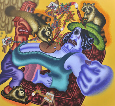 Peter Saul, 'Raccoon Artist Surprises the Art World', 2009