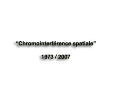 "Carlos Cruz-Diez, '""Chromointerférence Spatiale""', 1873"