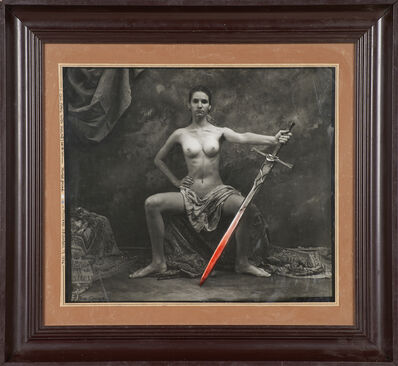 Jan Saudek, 'Girl Petra with Sword', 1996