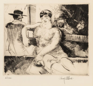Percy F. Albee, 'A group of five works: Italian Fishwife, Italian Fishwife, Street Musicians, Idlers,  and Poor Mother'