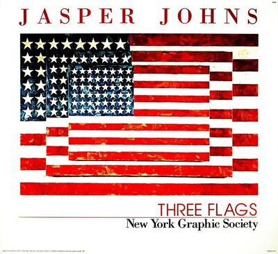 Jasper Johns, 'Three Flags', 1991