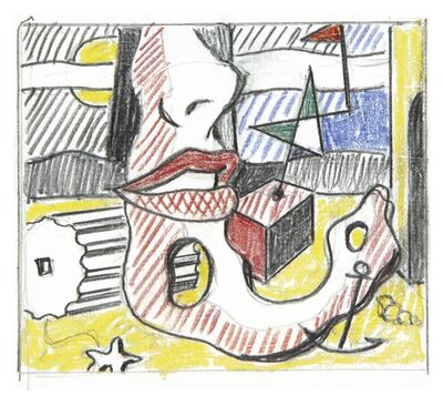 Roy Lichtenstein, 'A Bright Night' (Study)'