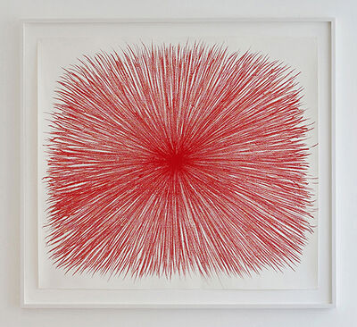 William Anastasi, 'Burst (Red Vetruvian)', 2017