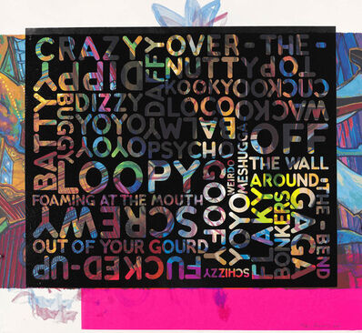 Mel Bochner, 'Crazy Crazy over the top (With background Noise) | Every piece is a UNIQUE variant', 2018