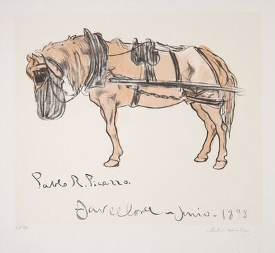 Pablo Picasso, 'Cheval Attele', 1973-original created in 1898