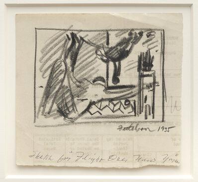 Lorser Feitelson, 'Study for Flight Over New York', 1935
