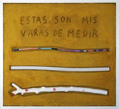 Manuel Barbero, 'Las varas de medir ', 2017
