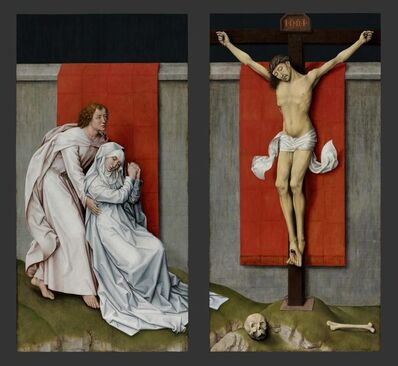Rogier van der Weyden, 'The Crucifixion, with the Virgin and Saint John the Evangelist Mourning', ca. 1460