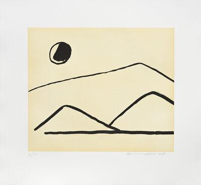 Etel Adnan, 'Soleil sur le Mont Tamalpais', 2017