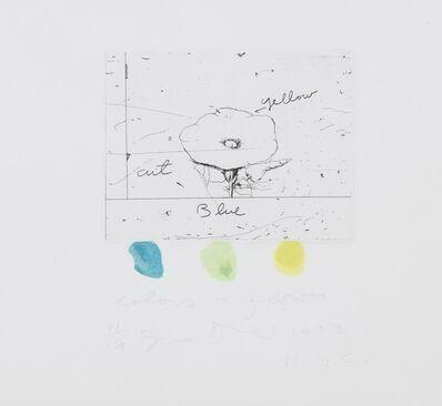 Jim Dine, 'Colors + flower', 1973
