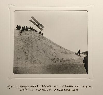 Jacques Henri Lartigue, 'Merlimont Premier Vol de Gabriel Voisin, Sur Le Planeur Archdealon', 1904