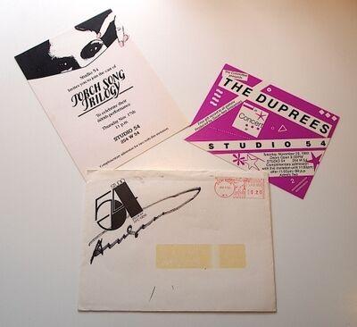 Andy Warhol, 'Studio 54 Envelope + Invitations (Signed)', 1983