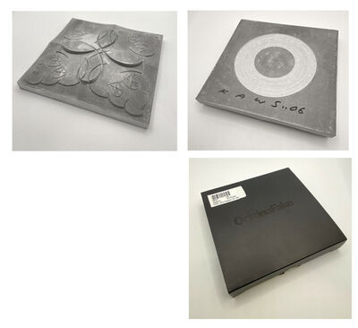 """KAWS, '""""ORIGINAL FAKE STORE TILE"""" (un-glazed version), Signed/Dated, Limited Edition, with Original Box, KAWS Store Japan, ', 2006"""