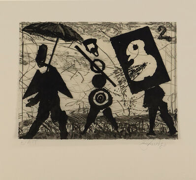 William Kentridge, 'Dada Picnic II', 2019