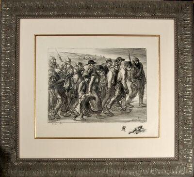 Théophile Alexandre Steinlen, 'Les Otages Civils', 1916