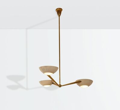 Lumen, 'a lamp with a brass and lacquered aluminum structure', ca. 1950