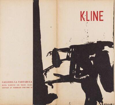 Franz Kline, 'Kline', 1958