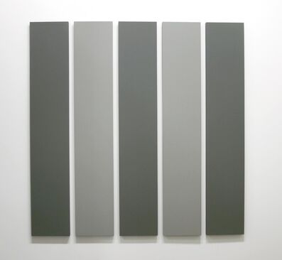 Alan Charlton, '5 Part Painting in 2 Greys', 2000