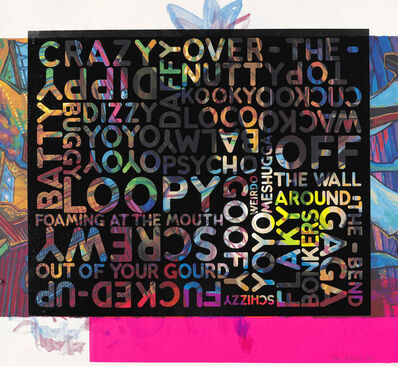 Mel Bochner, 'Crazy (With Background Noise)', 2018