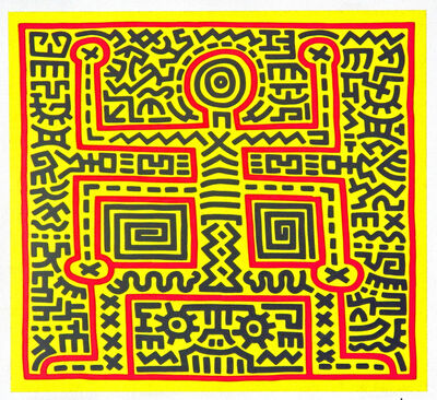 Keith Haring, 'Untitled (Abstract Figure)', 1983