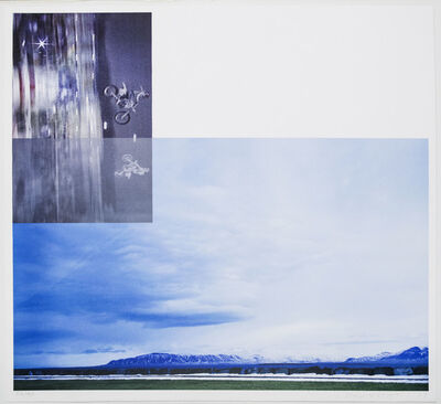 John Baldessari, 'Overlap Series: Double Motorcyclists and Landscape (Icelandic)', 2003