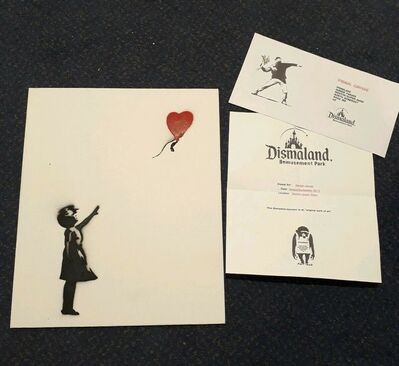 "Banksy, 'BANKSY DISMALAND ""BALLOON GIRL"" WITH COA ', 2015"