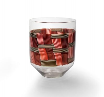 Venini, 'A vase to weave of crossed reeds', circa 1980