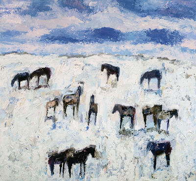 Theodore Waddell, 'Winter Horses #14', 2020