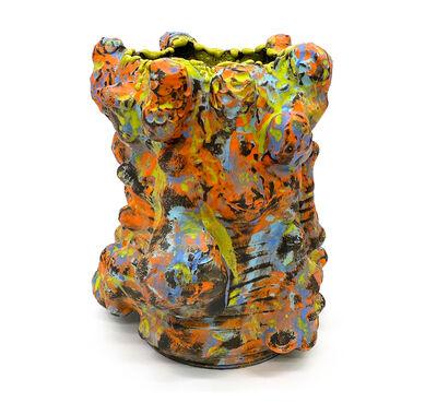 Vince Palacios, 'Abraded Vessel - Lime / Tangerine', 2020