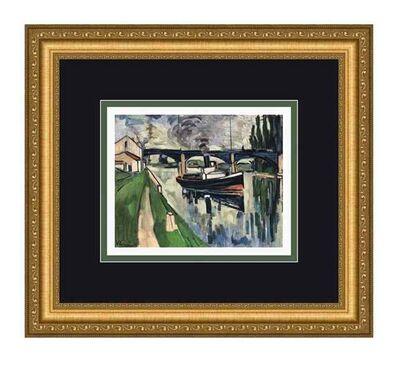 Maurice de Vlaminck, 'La Seine a Poissy', 1908