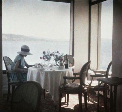 Jacques Henri Lartigue, 'Bibi au restaurant d'Eden Roc, Cap d'Antibes, France', 1920