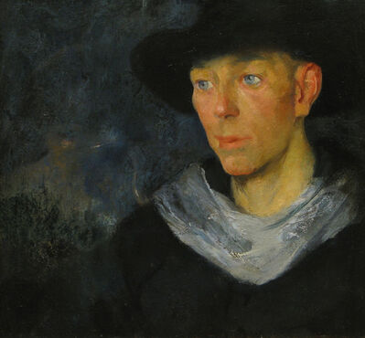 Jerry Farnsworth, 'The Black Hat', 19th -20th Century