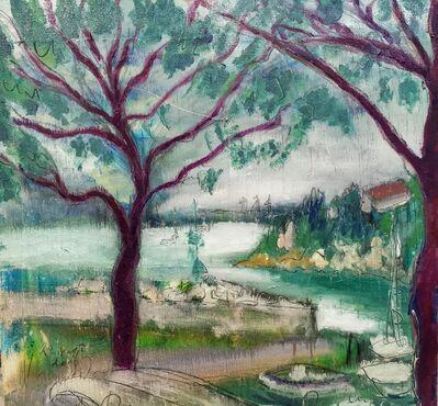 Norma de Saint Picman, 'Water paintings summer 2019 - plein air in situ paintings, Duino in rain...', 2019