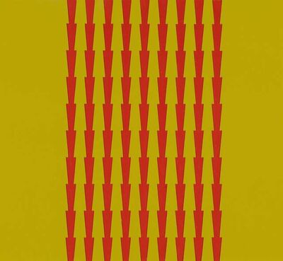 "Tess Jaray RA, 'Thorns 15 ""Purple on Yellow""', 2014"