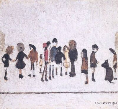 Laurence Stephen Lowry, 'Nursery Sketches', 1973