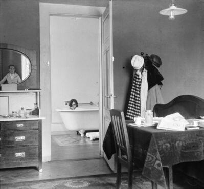 Jacques Henri Lartigue, 'Bibi et moi dans le reflet du miroir pendant notre voyage de noces, Chamonix', 1920