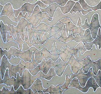Petra Rös-Nickel, 'Waves Blue/Grey', 2019