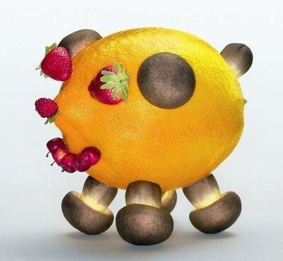 Olaf Breuning, 'Lemon Pig, for Parkett 71', 2004