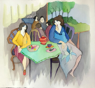 Itzchak Tarkay, 'UNTITLED (AT THE CAFE)', UNKNOWN