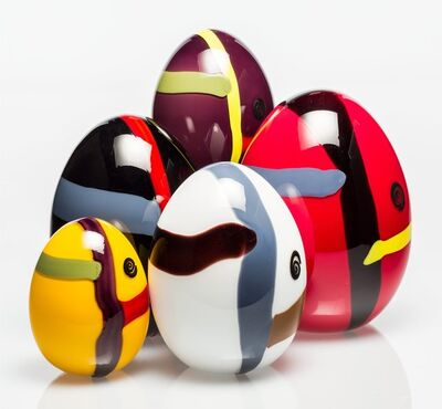 Lino Tagliapietra, 'Five Eggs', 1983