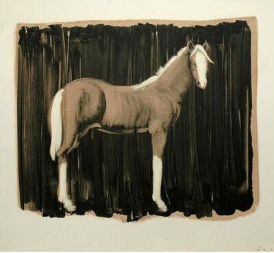 Joe Andoe, 'Tan Horse on Black', 1989